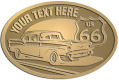 Ace Recognition Gold Crest, Lapel, Plaque - with your text and logo - Car designs - US route 66 - vintage cars - classic cars - coupe - roadster - your text, route 66, route sixty six, route sixty-six, historic highway, historic road, mother road