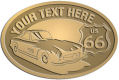 Ace Recognition Gold Crest, Lapel, Plaque - with your text and logo - Car designs - US route 66 - vintage cars - classic cars - sports car - your text, route 66, route sixty six, route sixty-six, historic highway, historic road, mother road, transportation