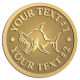 Ace Recognition Gold Coin, Lapel, Plaque - with your text and logo - Sports, mascots, sports, fish, sea creatures, sharks, teams, high school, college, university