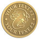 Ace Recognition Gold Coin, Lapel, Plaque - with your text and logo - Sports, mascots, sports, sea creatures, dolphins, fish, teams, high school, college, university