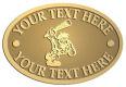Ace Recognition Gold Crest, Lapel, Plaque - with your text and logo - Cavemen, caveman, prehistoric, primal
