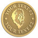 Ace Recognition Gold Coin, Lapel, Plaque - with your text and logo - Sports, mascots, lions, cats, high school, college, university