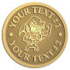 Ace Recognition Gold Coin, Lapel, Plaque - with your text and logo - Sports, mascots, sharks, high school, college, university