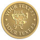 Ace Recognition Gold Coin, Lapel, Plaque - with your text and logo - Sports, mascots, foxes, high school, college, university