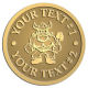 Ace Recognition Gold Coin, Lapel, Plaque - with your text and logo - Sports, mascots, vikings, norsemen, high school, college, university