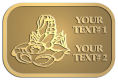 Ace Recognition Gold Crest, Lapel, Plaque - with your text and logo - lobsters, seafood, shellfish, claws
