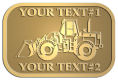 Ace Recognition Gold Crest, Lapel, Plaque - with your text and logo - bobcats, construction, industrial, machine, machinery