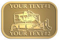 Ace Recognition Gold Crest, Lapel, Plaque - with your text and logo - bulldozer, constructions, dozer, earth, equipment, heavy, machine, mover, soil, tracks