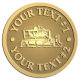 Ace Recognition Gold Coin, Lapel, Plaque - with your text and logo - bulldozer, constructions, dozer, earth, equipment, heavy, machine, mover, soil, tracks