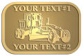 Ace Recognition Gold Crest, Lapel, Plaque - with your text and logo - graders, machinery, road equipment, heavy equipment, highway maintenance