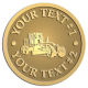 Ace Recognition Gold Coin, Lapel, Plaque - with your text and logo - graders, machinery, road equipment, heavy equipment, highway maintenance