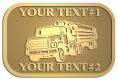 Ace Recognition Gold Crest, Lapel, Plaque - with your text and logo - logging equipment, logging truck, trucking, cargo, industry, logging, truck, lumber