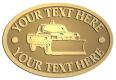Ace Recognition Gold Crest, Lapel, Plaque - with your text and logo - snow removal, truck, plow, pick up, pick-up, snow plow