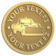 Ace Recognition Gold Coin, Lapel, Plaque - with your text and logo - snow removal, truck, plow, pick up, pick-up, snow plow