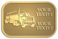 Ace Recognition Gold Crest, Lapel, Plaque - with your text and logo - tanker trucks, tank trucks, truck tankers, truck tanks, carriers, haulers, transportation