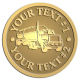 Ace Recognition Gold Coin, Lapel, Plaque - with your text and logo - tanker trucks, tank trucks, truck tankers, truck tanks, carriers, haulers, transportation