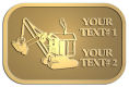Ace Recognition Gold Crest, Lapel, Plaque - with your text and logo - diggers, excavators, excavation, excavation equipment, excavation machines, excavation machinery, digger tractors, crawler excavators