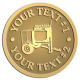 Ace Recognition Gold Coin, Lapel, Plaque - with your text and logo - cement mixers, concrete mixers, masonry mixers, concrete, mortar