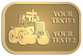 Ace Recognition Gold Crest, Lapel, Plaque - with your text and logo - cab enclosures, machines, industrial equipment, construction machinery, cabs