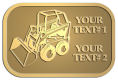 Ace Recognition Gold Crest, Lapel, Plaque - with your text and logo - bucket front loaders, wheel loaders, machinery , loaders, excavators, bulldozers