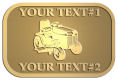 Ace Recognition Gold Crest, Lapel, Plaque - with your text and logo - lawn tractors, riding mowers, garden tractors, lawn mowers