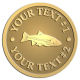 Ace Recognition Gold Coin, Lapel, Plaque - with your text and logo - fish, fins,  fisherman, fishermen, fishing, food, freshwater,  hobbies, hook,  leisure, recreational, relaxation, river,  sea, stream, vacations, water, bass