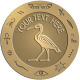 Ace Recognition Gold Buckle, Coin, Lapel, KeyTag, Medal, Pendant, Plaque - with your text and logo - egyptian, hieroglyphics, creatures, mythology, sacred ibis