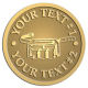 Ace Recognition Gold Coin, Lapel, Plaque - with your text and logo - tool belts, trades, construction, tool carrying, builder bags, tool organizers, tool pouches