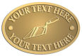 Ace Recognition Gold Crest, Lapel, Plaque - with your text and logo - trowels, bricklayers, brick layers, plaster trowels, brick trowels, pointing trowels, plasters, masonry