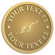 Ace Recognition Gold Coin, Lapel, Plaque - with your text and logo - trowels, bricklayers, brick layers, plaster trowels, brick trowels, pointing trowels, plasters, masonry