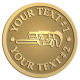 Ace Recognition Gold Coin, Lapel, Plaque - with your text and logo - Pipe wrenches, wrenches, wrench, tools, plumbers, plumbing