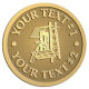 Ace Recognition Gold Coin, Lapel, Plaque - with your text and logo - roofing, roofers, ladders, shingles, hammers, contractors