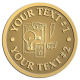 Ace Recognition Gold Coin, Lapel, Plaque - with your text and logo - electrical receptacle outlets, electricity, plugs, light bulbs, energy, electrical plugs, electrical