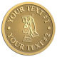 Ace Recognition Gold Coin, Lapel, Plaque - with your text and logo - janitorial, janitor, cleaning, vacuums, brooms, dust mops, janitorial supplies, janitorial equipment