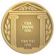 Ace Recognition Gold Buckle, Coin, KeyTag, Lapel, Medal, Pendant, Plaque - with your text and logo - greek pillars, greek temples, laurel, greek motifs