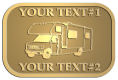 Ace Recognition Gold Crest, Lapel, Plaque - with your text and logo - RV, RVs, Recreational Vehicles, campers, camping, motors, motor-homes, motorhomes, recreation, recreational, retire, retirement, tours, trailers, transportation, travel, travelers, trips, trucks, vacations, vans, vehicles, voyages, wheels