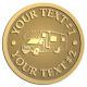 Ace Recognition Gold Coin, Lapel, Plaque - with your text and logo - RV, RVs, Recreational Vehicles, campers, camping, motors, motor-homes, motorhomes, recreation, recreational, retire, retirement, tours, trailers, transportation, travel, travelers, trips, trucks, vacations, vans, vehicles, voyages, wheels
