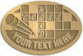 Ace Recognition Gold Crest, Lapel, Plaque - with your text and logo - crossword puzzles, recreation, challenge, brainstorming, word puzzles, ability, activity, brainteasers, clues, newspapers, vocabulary, quiz, spelling, competition, contemplation, mental