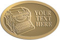 Ace Recognition Gold Crest, Lapel, Plaque - with your text and logo - typewriters, retro, antique, business, correspondence, editorial,  journalism, underwood, olympia, smith corona, business machines