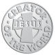 Ace Recognition Pewter Coin, Lapel, Plaque - with your text and logo - Christian - Jesus - Creator of the world - cross - love - faith - religion  religious, metal