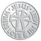 Ace Recognition Pewter Coin, Lapel, Plaque - with your text and logo - Christian - Jesus - Where love and sin meet - cross - love - faith - religion  religious, metal