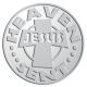 Ace Recognition Pewter Coin, Lapel, Plaque - with your text and logo - Christian - Jesus - heaven sent - cross - love - faith - religion  religious, metal