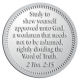 Ace Recognition Pewter Coin, Lapel, Plaque - with your text and logo - Christian Designs - Study to shew thyself approved unto God, a workman that needeth not to be ashamed, rightly dividing the word of truth.  2 Timothy 2:15  religious, metal