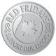 Ace Recognition Pewter Coin, Lapel, Plaque - with your text and logo - Military - Canada - Support Our Troops - Maple leaf and ribbon - Red Fridays, metal, navy