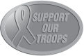 Ace Recognition Pewter Crest, Lapel, Plaque - with your text and logo - Military - Support our troops - ribbon, metal, navy