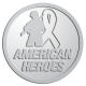 Ace Recognition Pewter Coin, Lapel, Plaque - with your text and logo - Military - American heroes - soldier - ribbon, metal, navy
