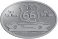 Ace Recognition Pewter Crest, Lapel, Plaque - with your text and logo - Car designs - US route 66 - corvette - vintage cars - sports car - your text, route 66, route sixty six, route sixty-six, historic highway, historic road, mother road, transportation