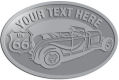 Ace Recognition Pewter Crest, Lapel, Plaque - with your text and logo - Car designs - US route 66 - vintage cars - classic cars - convertible - sports car - your text, route 66, route sixty six, route sixty-six, historic highway, historic road, mother road