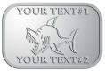 Ace Recognition Pewter Crest, Lapel - with your text and logo - Sports, mascots, sports, fish, sea creatures, sharks, teams, high school, college, university