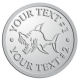 Ace Recognition Pewter Coin, Lapel, Plaque - with your text and logo - Sports, mascots, sports, fish, sea creatures, sharks, teams, high school, college, university